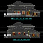 CAD - Drawings House Left Elevation