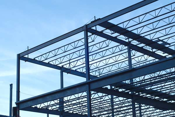 Steel Building Frame from Construction