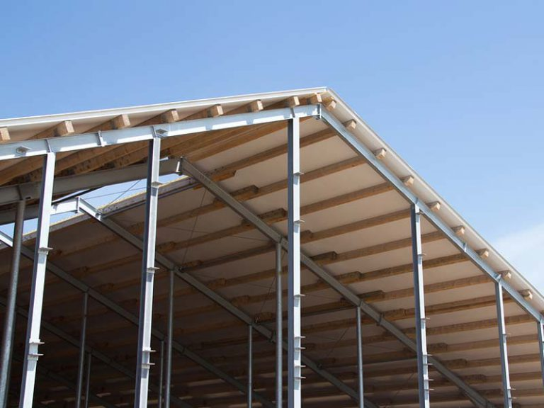 Steel frame and roof