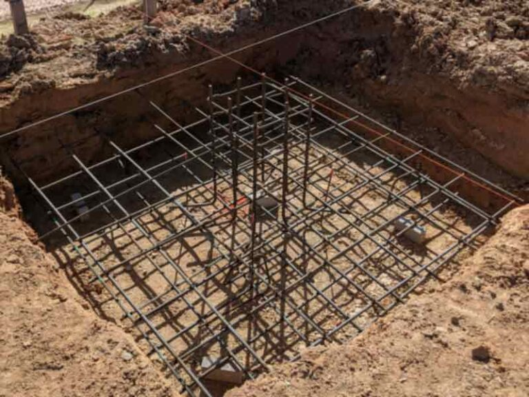 Foundation with rebar